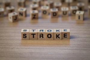 Stroke written out in blocks