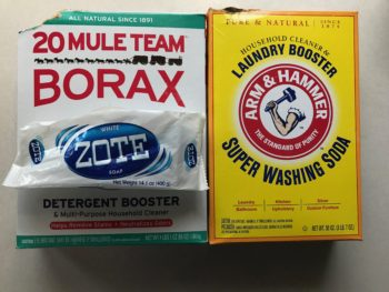 Borax, Arm & Hammer Washing Soda and Zote Soap - Homemade Laundry Soap Ingredients